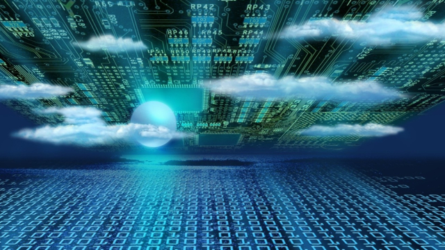 Data is transferred to the cloud