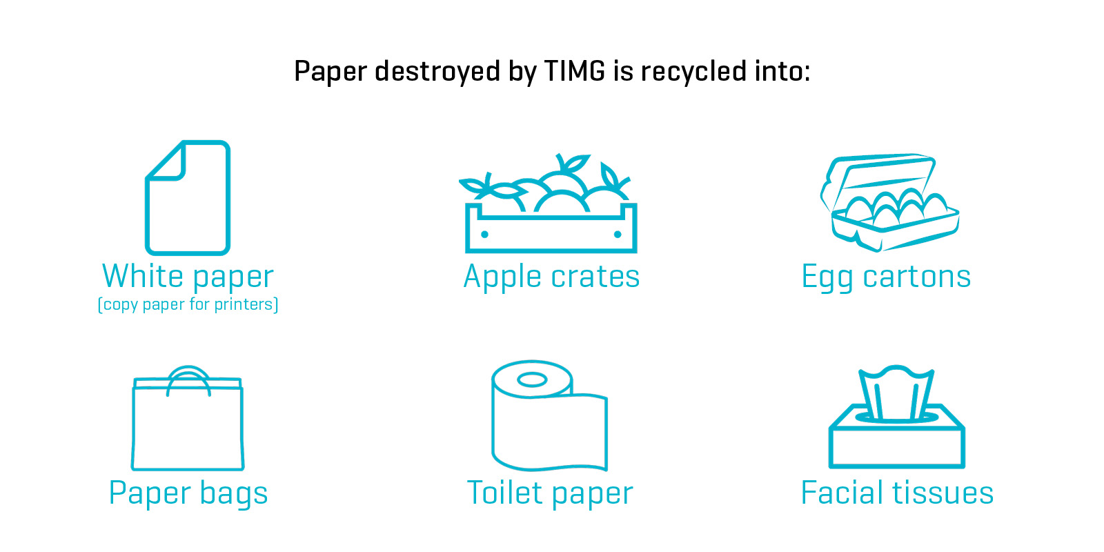 Paper destroyed by TIMG is recycled into